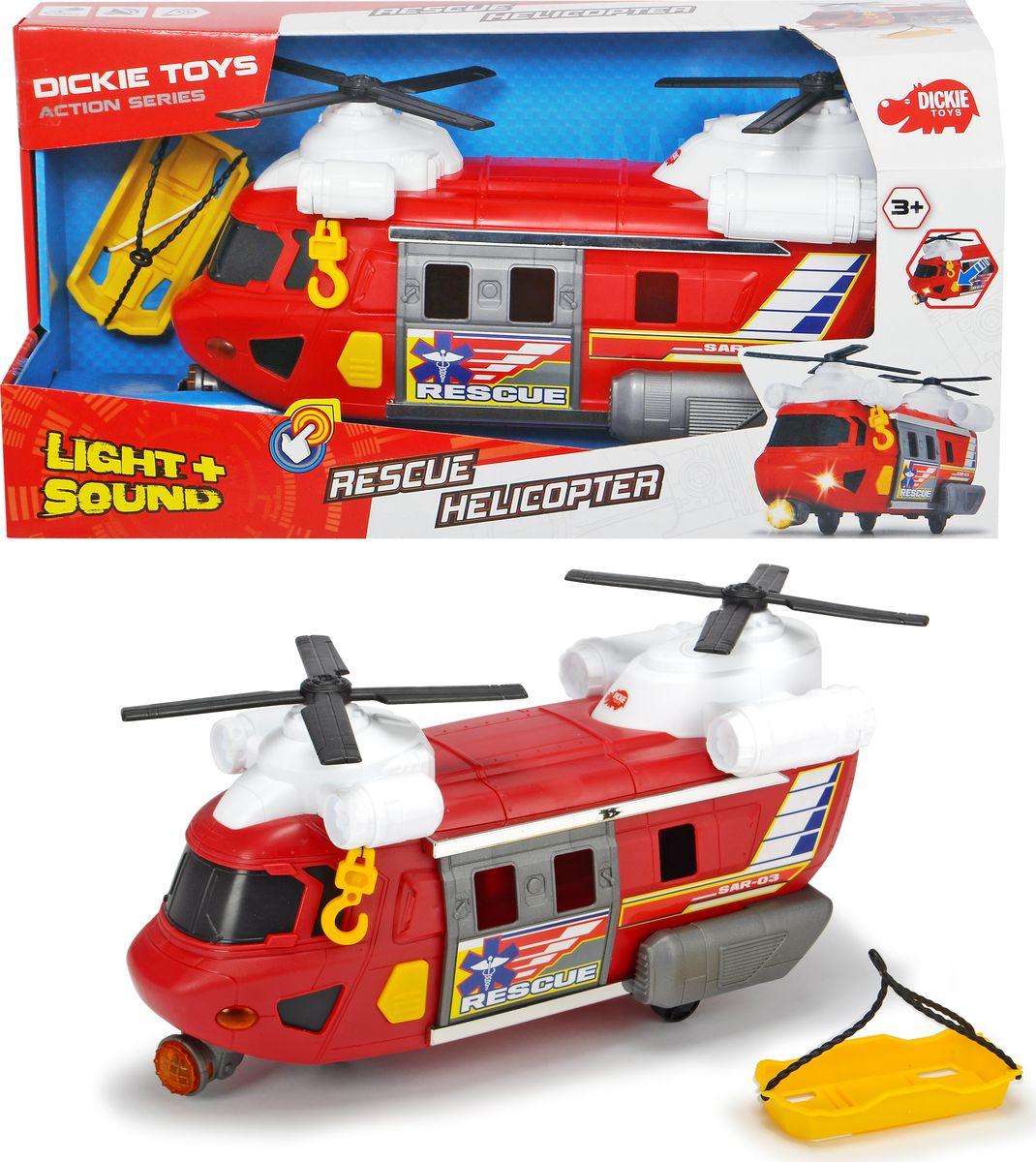 Спасательный вертолет Dickie Toys Action sereies, двухвинтовой, 30 см цены онлайн