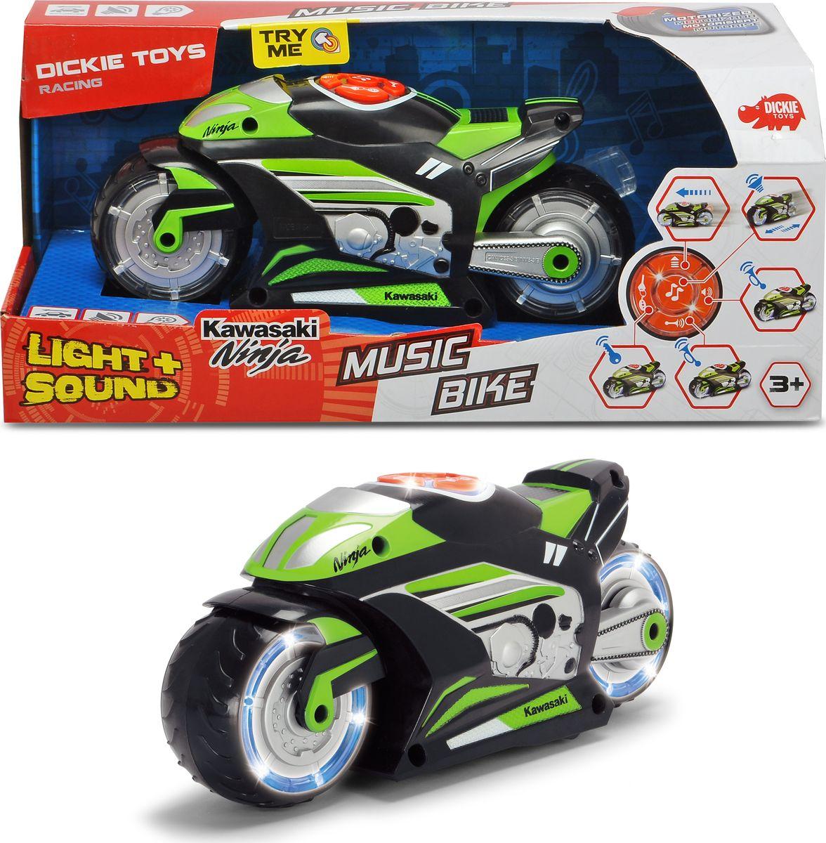 Мотоцикл Dickie Toys Racing, музыкальный, 23 см