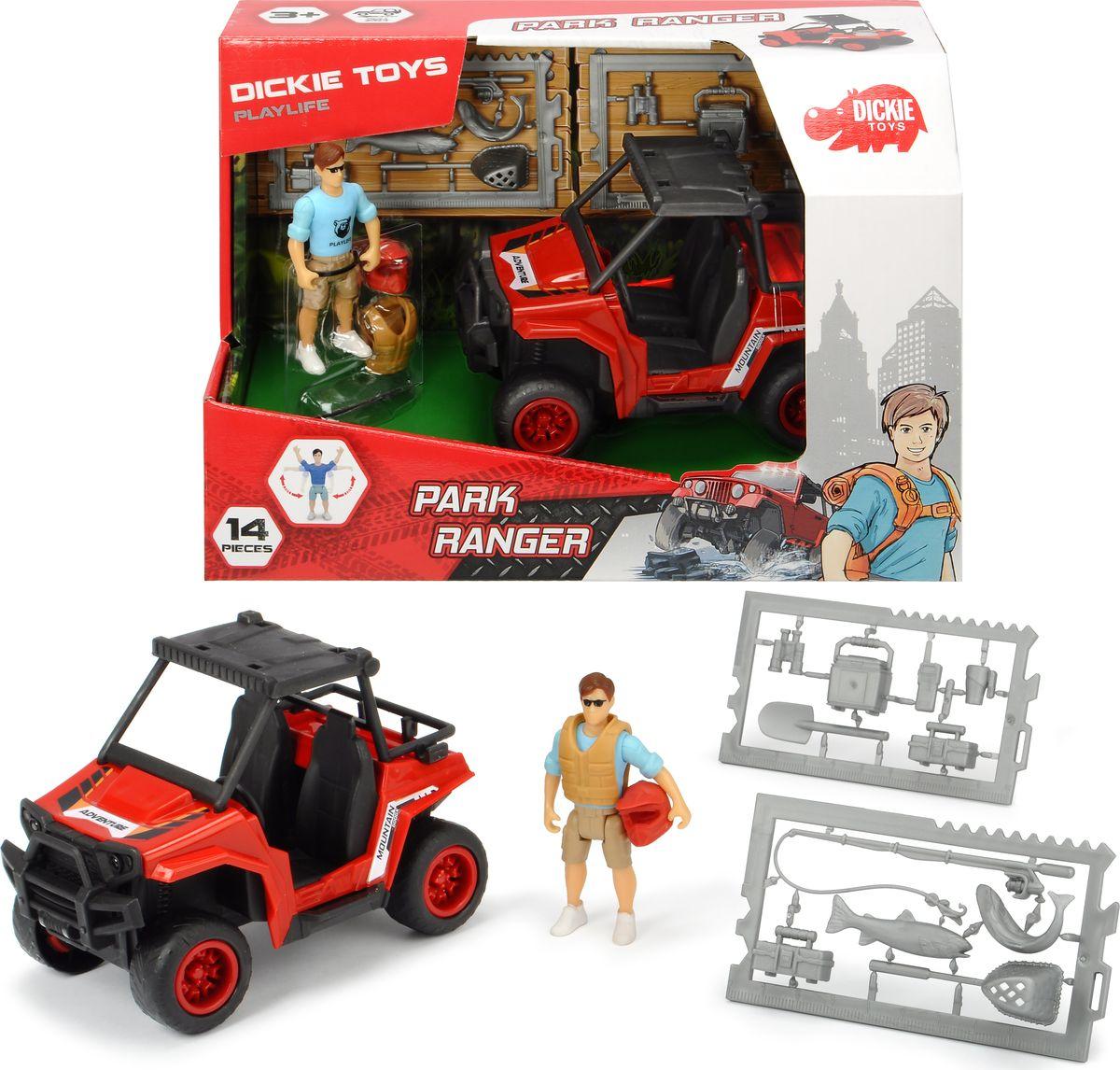 Игровой набор Dickie Toys PlayLife Квадроцикл паркового рейнджера, 3833005 игровой набор dickie toys playlife набор для перевозки лошадей
