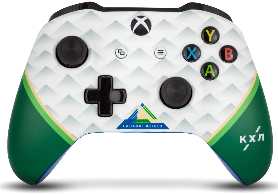 Контроллер беспроводной кастомизированный Microsoft Xbox One КХЛ. Салават Юлаев RAINBO RBW-XB046 геймпад беспроводной microsoft controller for xbox one [wl3 00090] [xbox one] combat tech