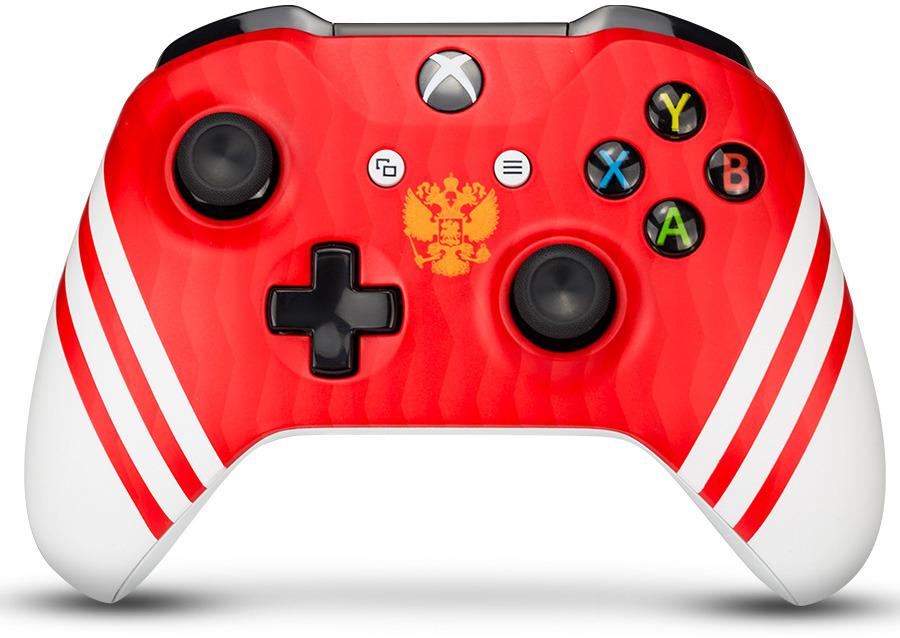 Контроллер беспроводной кастомизированный Microsoft Xbox One Сборная России RAINBO RBW-XB040 геймпад беспроводной microsoft controller for xbox one [wl3 00090] [xbox one] combat tech