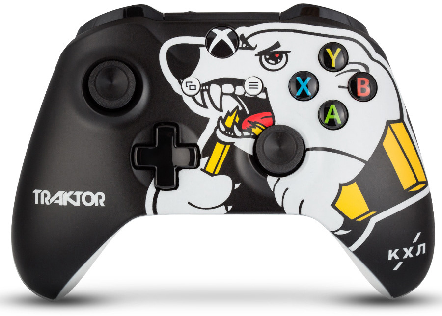 Контроллер беспроводной кастомизированный Microsoft Xbox One КХЛ. Трактор RAINBO RBW-XB048 геймпад беспроводной microsoft controller for xbox one [wl3 00090] [xbox one] combat tech