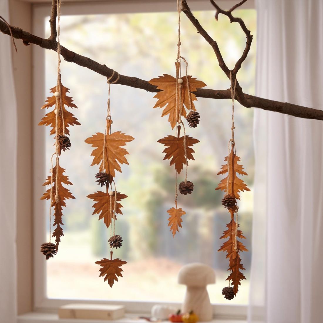 """Подвесные украшения Хит-декор """"Осенние листья"""", 4 шт"""