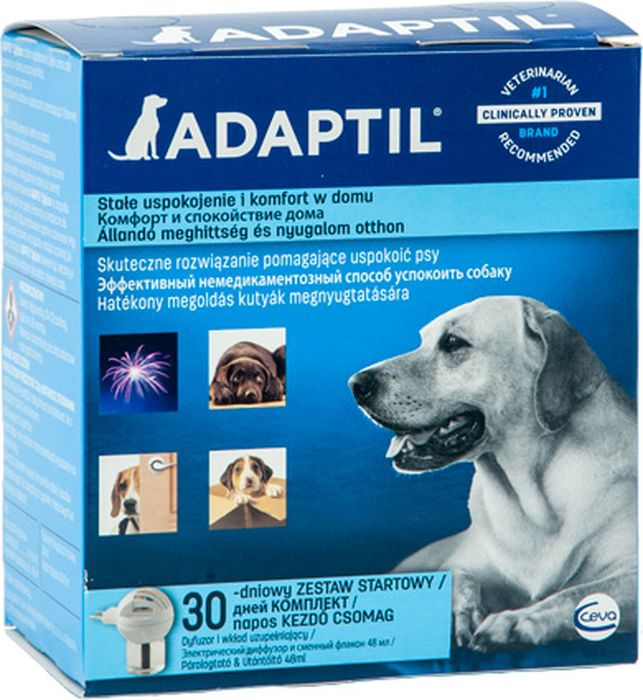 Модулятор поведения для собак Ceva Адаптил диффузор поливитамины ceva для собак с протеином 60 таблеток