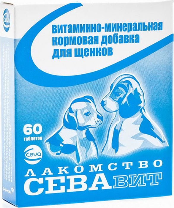 Поливитамины Ceva для щенков, 60 таблеток поливитамины ceva для собак с протеином 60 таблеток