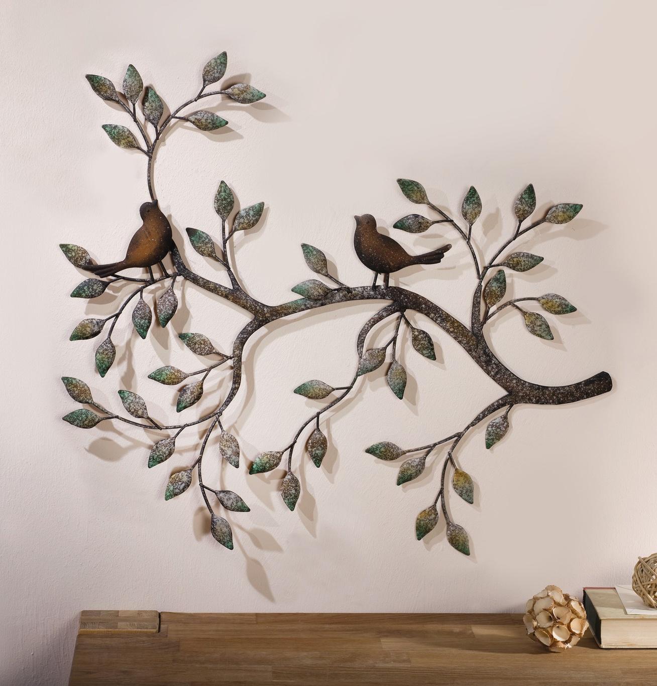 Настенное украшение Хит-декор Птички на ветке, 61 х 47 см набор бумажный декор птички djeco набор бумажный декор птички