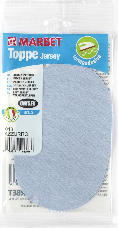 Термозаплатка Marbet Джерси, 16 х 10,5 см, цвет: голубой. 2 заплатка marbet самоклеющаяся цвет васильковый 16 х 10 см 123
