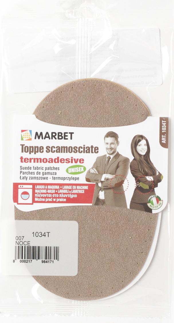 Термозаплатка Marbet Экозамша, 16 х 10,5 см, цвет: ореховый. 1034T заплатка marbet самоклеющаяся цвет васильковый 16 х 10 см 123