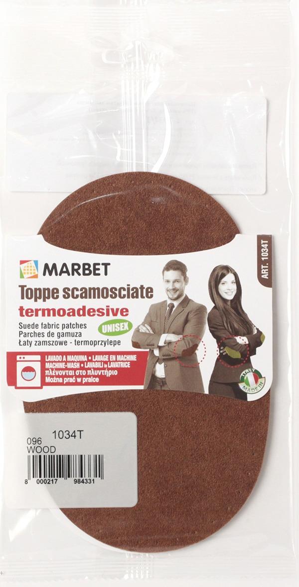 Термозаплатка Marbet Экозамша, 16 х 10,5 см, цвет: дерева. 1034T заплатка marbet самоклеющаяся цвет васильковый 16 х 10 см 123