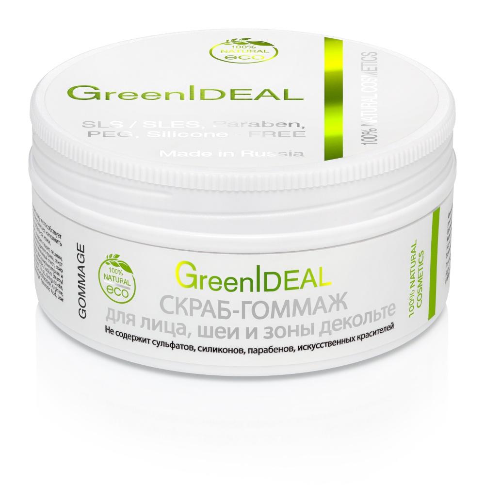 Скраб Greenideal Скраб-гоммаж для лица, шеи и зоны декольте (натуральный) натуральный скраб