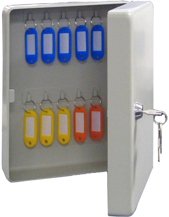 Ключница настенная Shuh Ru KB-20, цвет: серый, 18 х 8 х 25 см ключница настенная волшебная страна 005400 34 х 24 х 6 см
