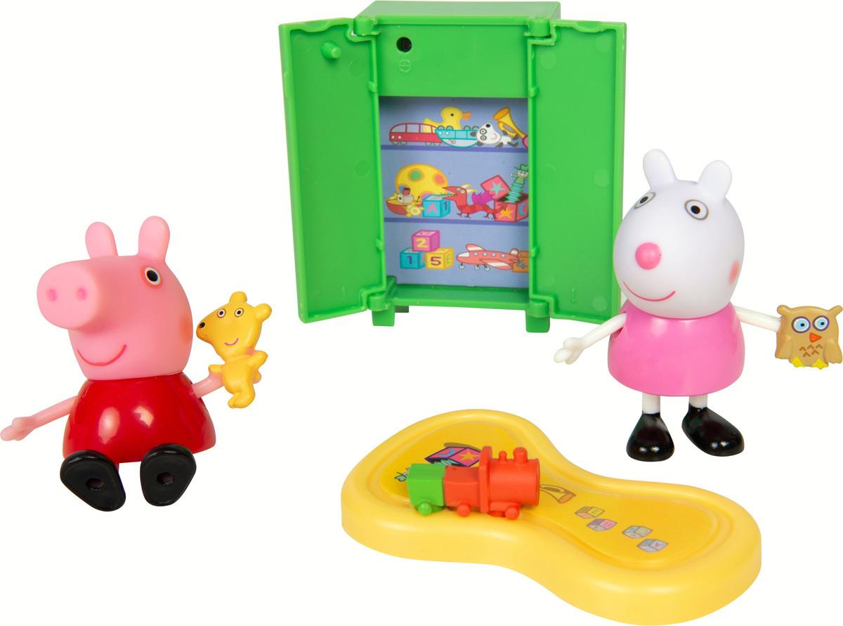 Игровой набор Свинка Пеппа Пеппа и Сьюзи играют в игры игровые фигурки свинка пеппа peppa pig фигурка неваляшка овечка сьюзи