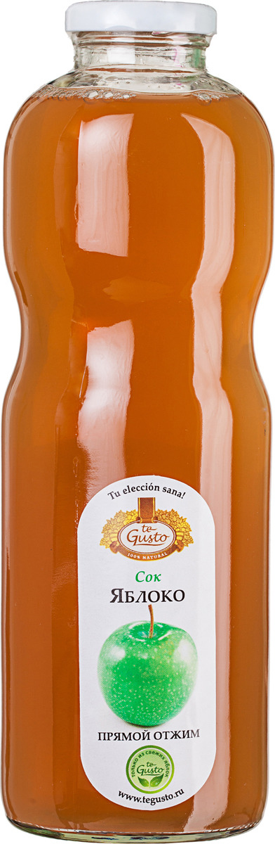 Яблочный сок прямого отжима te Gusto, 0,85 л