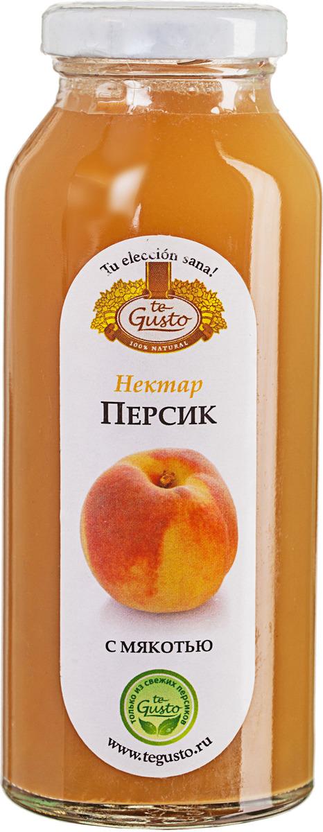 Персиковый нектар с мякотью te Gusto, 0,25 л менк персиковый нектар 1 л