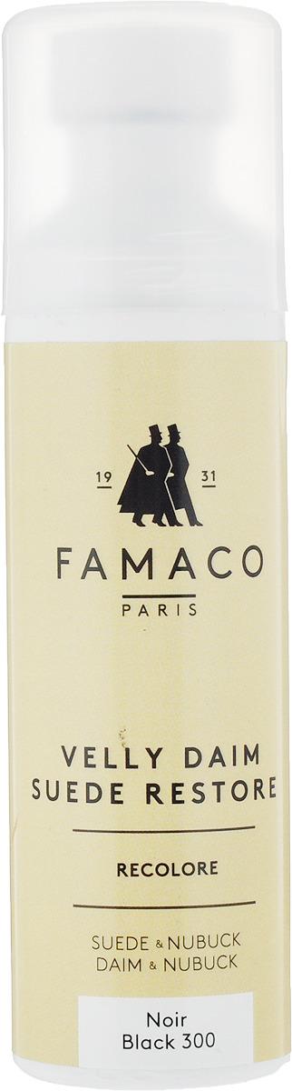 Краска для замши и нубука, Famaco, черная, 75 мл цена и фото