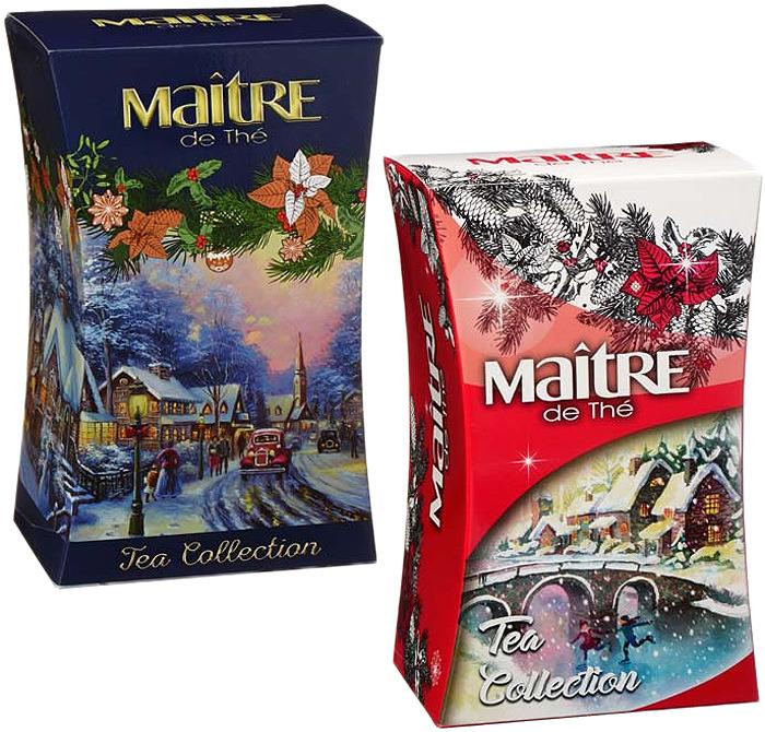 Чай черный Maitre Зимняя сказка, 90 г maitre имбирный пряник черный листовой чай 90 г