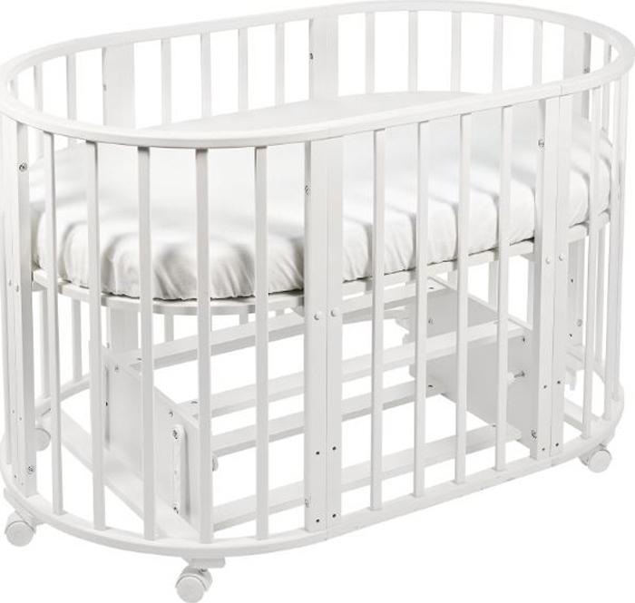 Кроватка-трансформер детская Sweet Baby Delizia, цвет: белый, 10 в 1, с маятником
