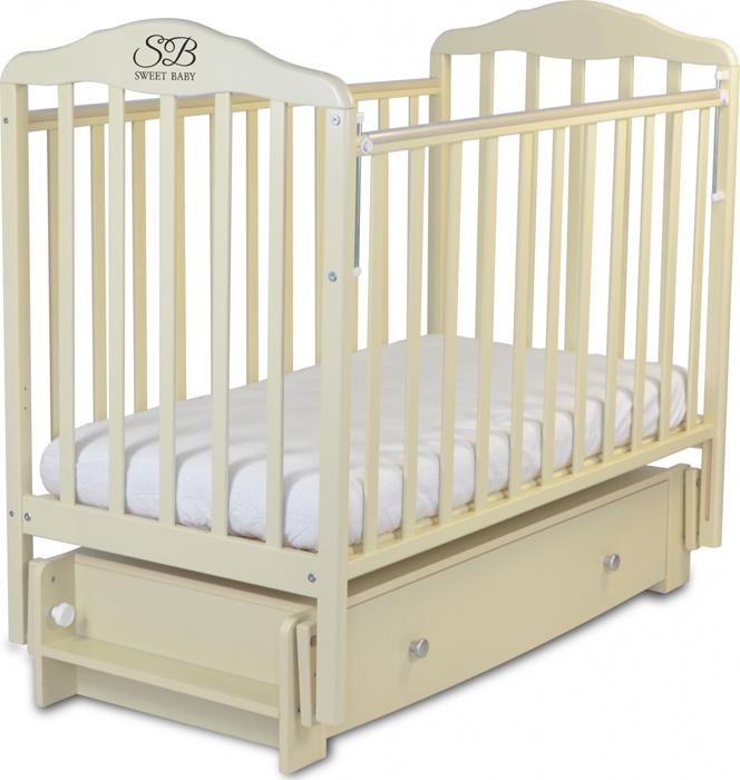 Кроватка детская Sweet Baby Eligio, цвет: слоновая кость детская кроватка sweet baby mario nuvola bianca белое облако