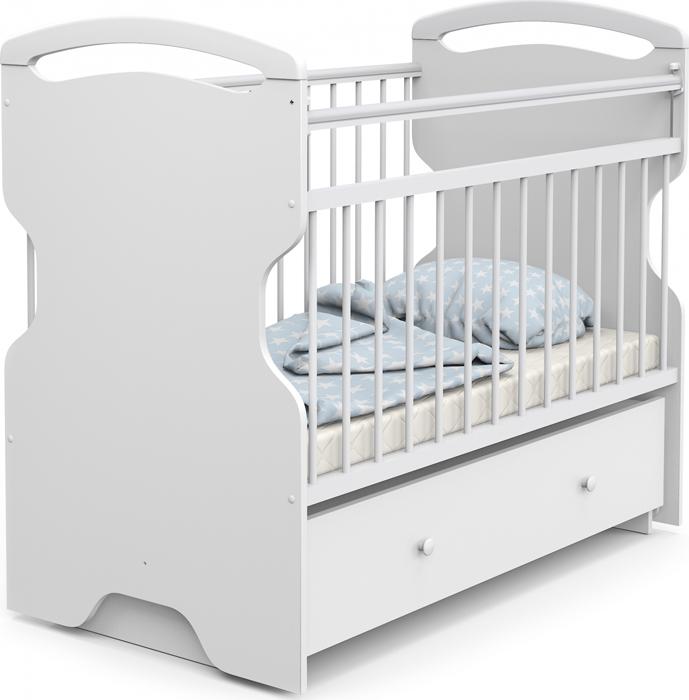Кроватка детская Sweet Baby Ofelia, цвет: белый детская кроватка sweet baby mario nuvola bianca белое облако