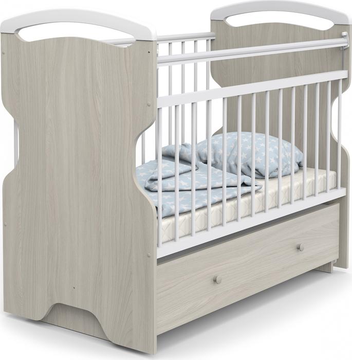 Кроватка детская Sweet Baby Ofelia, цвет: ясень, белый детская кроватка sweet baby mario nuvola bianca белое облако