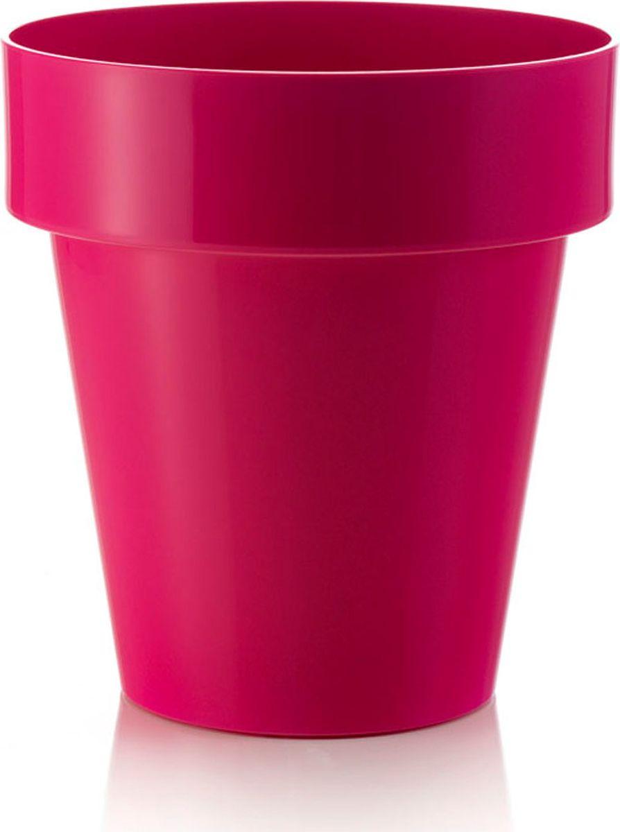 Горшок для цветов Teraplast Порто, цвет: фуксия, диаметр 14 см8083014018Горшок Порто имеет головокружительный глянцевый финиш, палитру сочных и ярких цветов.