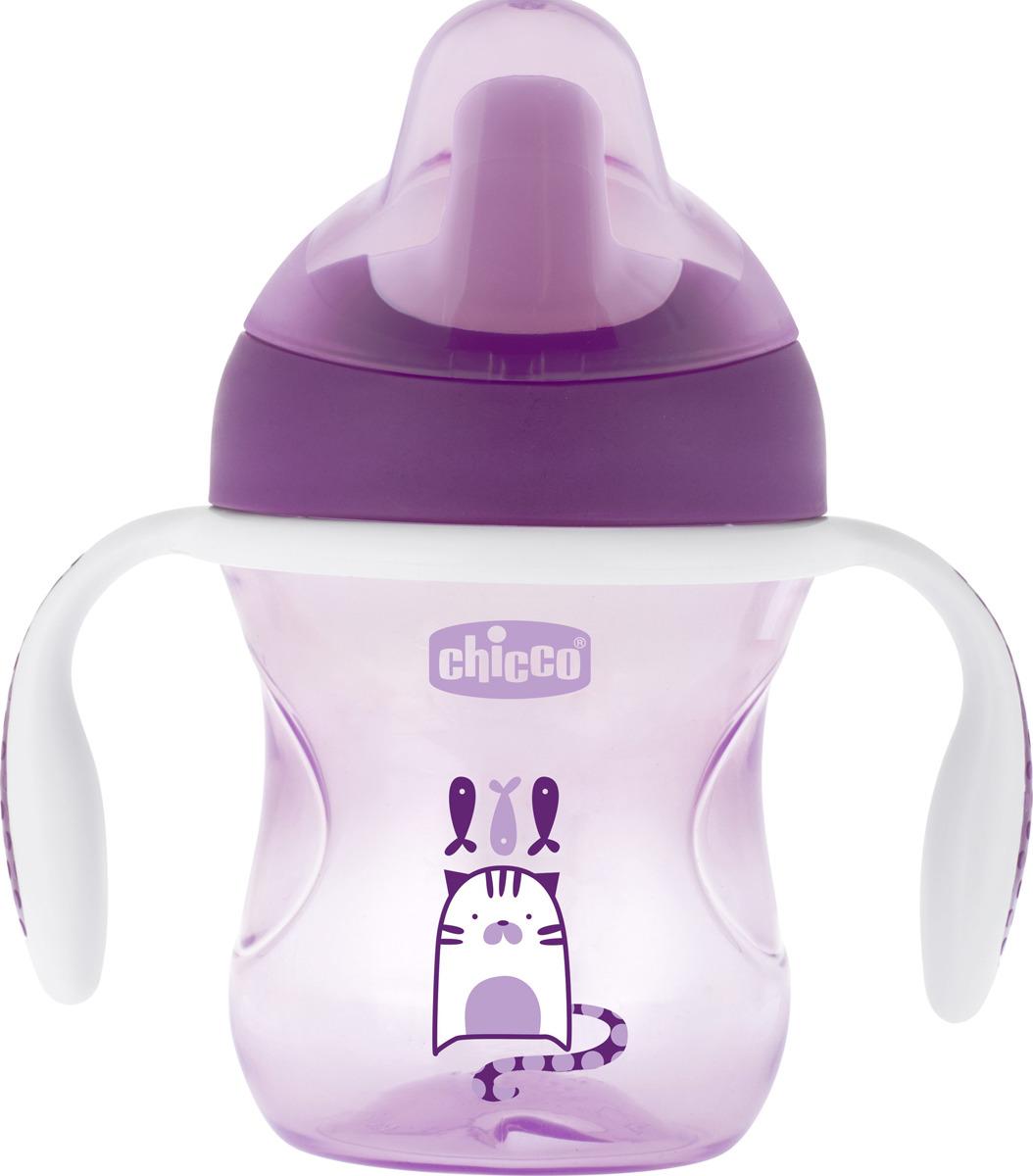 Фото - Чашка-поильник Chicco Training Cup, цвет фиолетовый, 200 мл [супермаркет] jingdong геб scybe фил приблизительно круглая чашка установлена в вертикальном положении стеклянной чашки 290мла 6 z