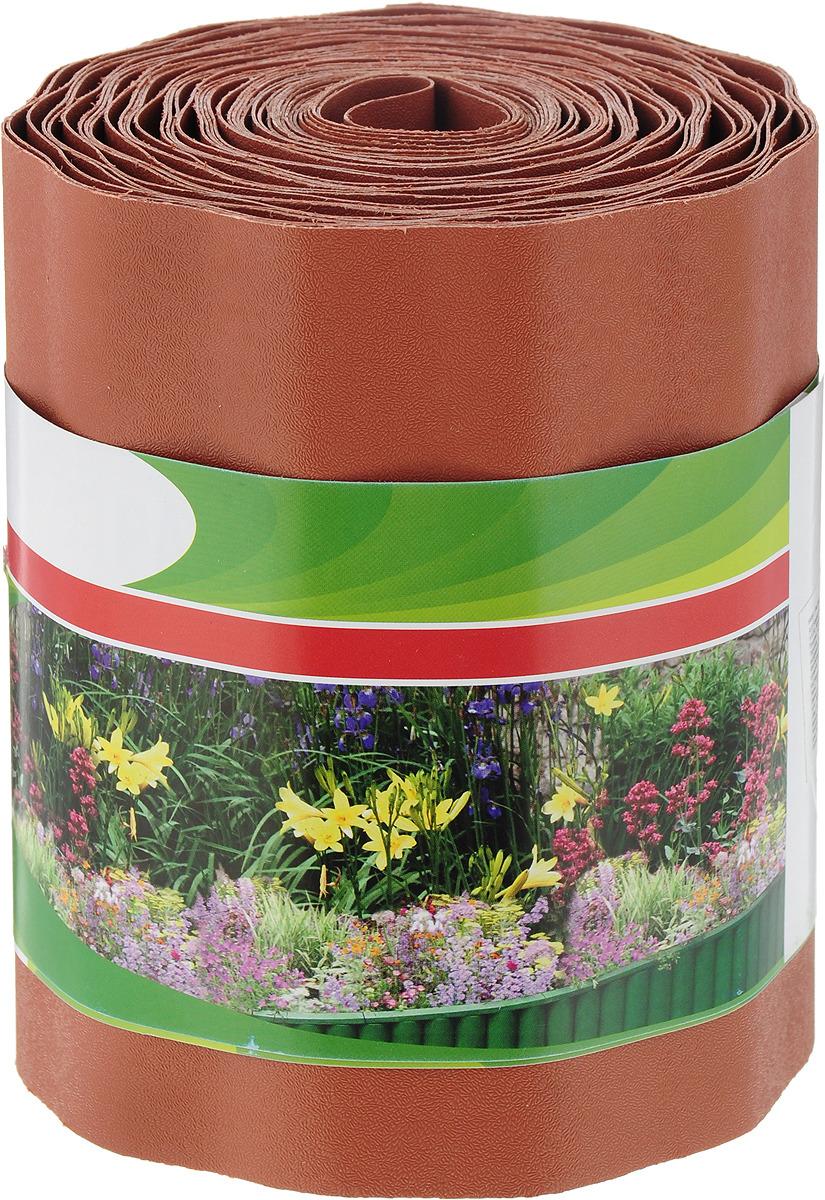 """Бордюр садовый """"Palisad"""", цвет: коричневый, 15 см х 9 м"""