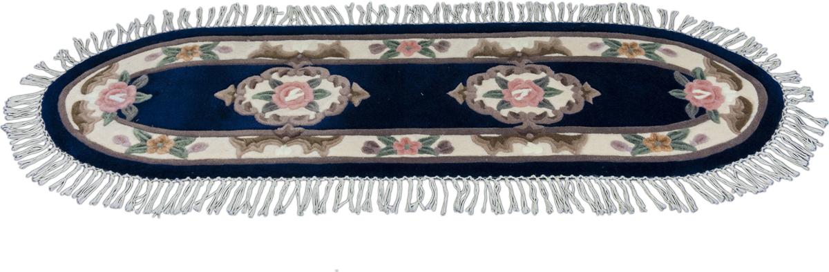 Ковер Madonna, овальный, цвет: темно-синий, 0,8 х 2,8 м. 8551/569