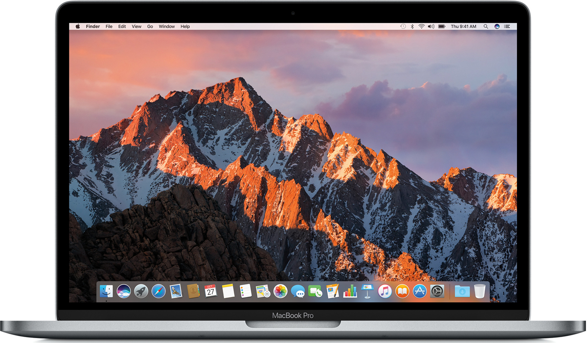 13.3 Ноутбук Apple MacBook Pro Z0UH0008D, серый ноутбук apple macbook pro z0uj00061 13 3 ips intel core i7 7660u 2 5ггц 16гб 128гб ssd intel iris graphics 640 mac os sierra z0uj00061 серебристый