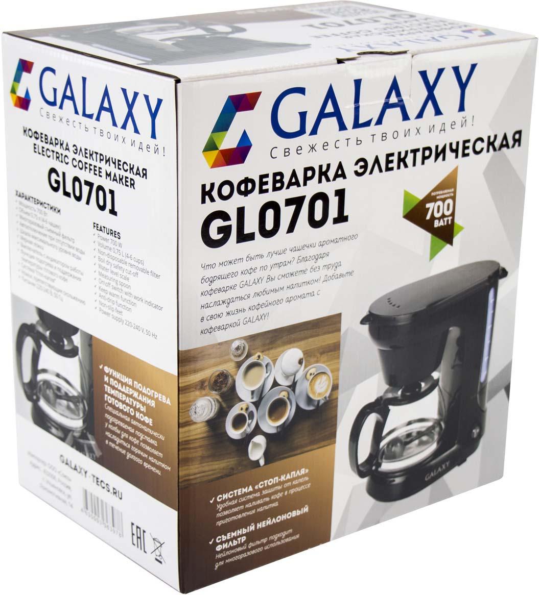 Кофеварка капельная Galaxy GL 0701, цвет: черный Galaxy