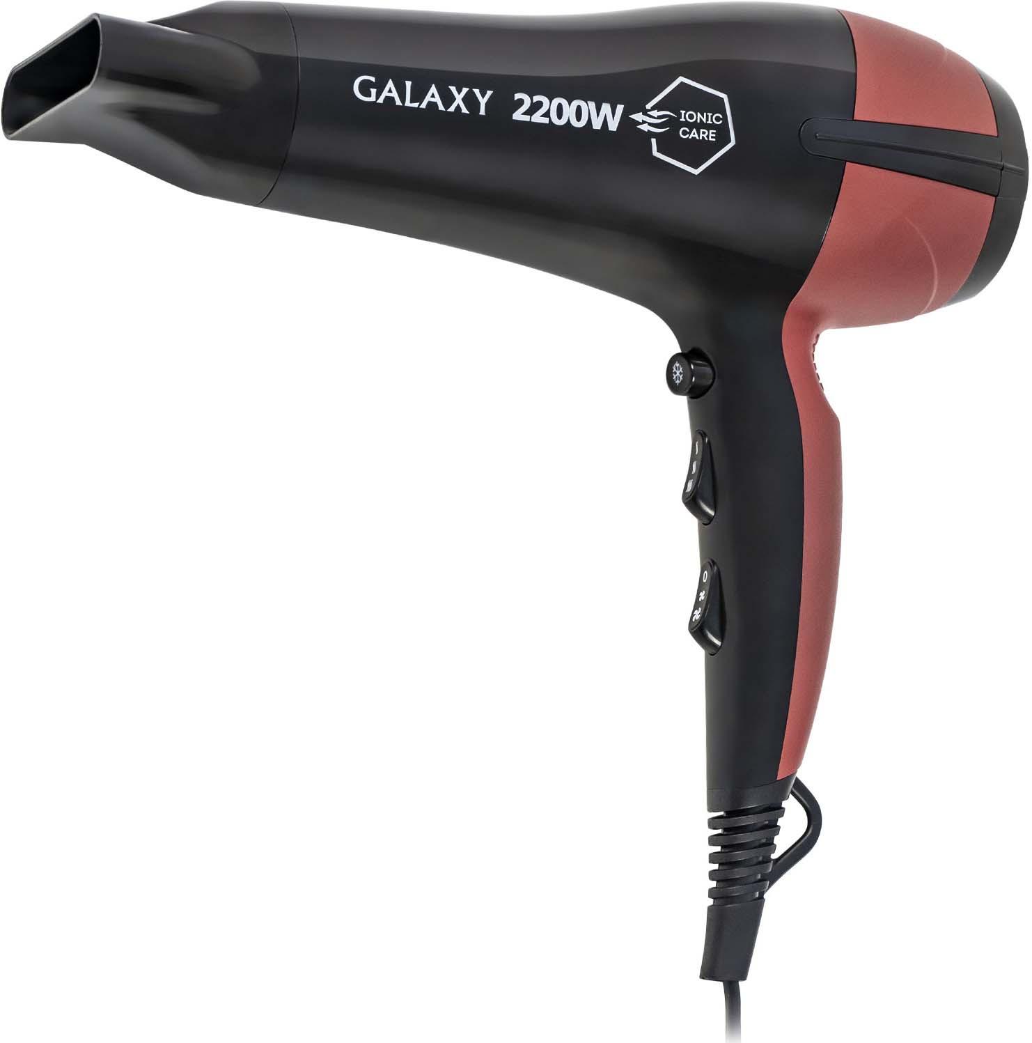 Фен Galaxy GL 4328, цвет: черный, красный