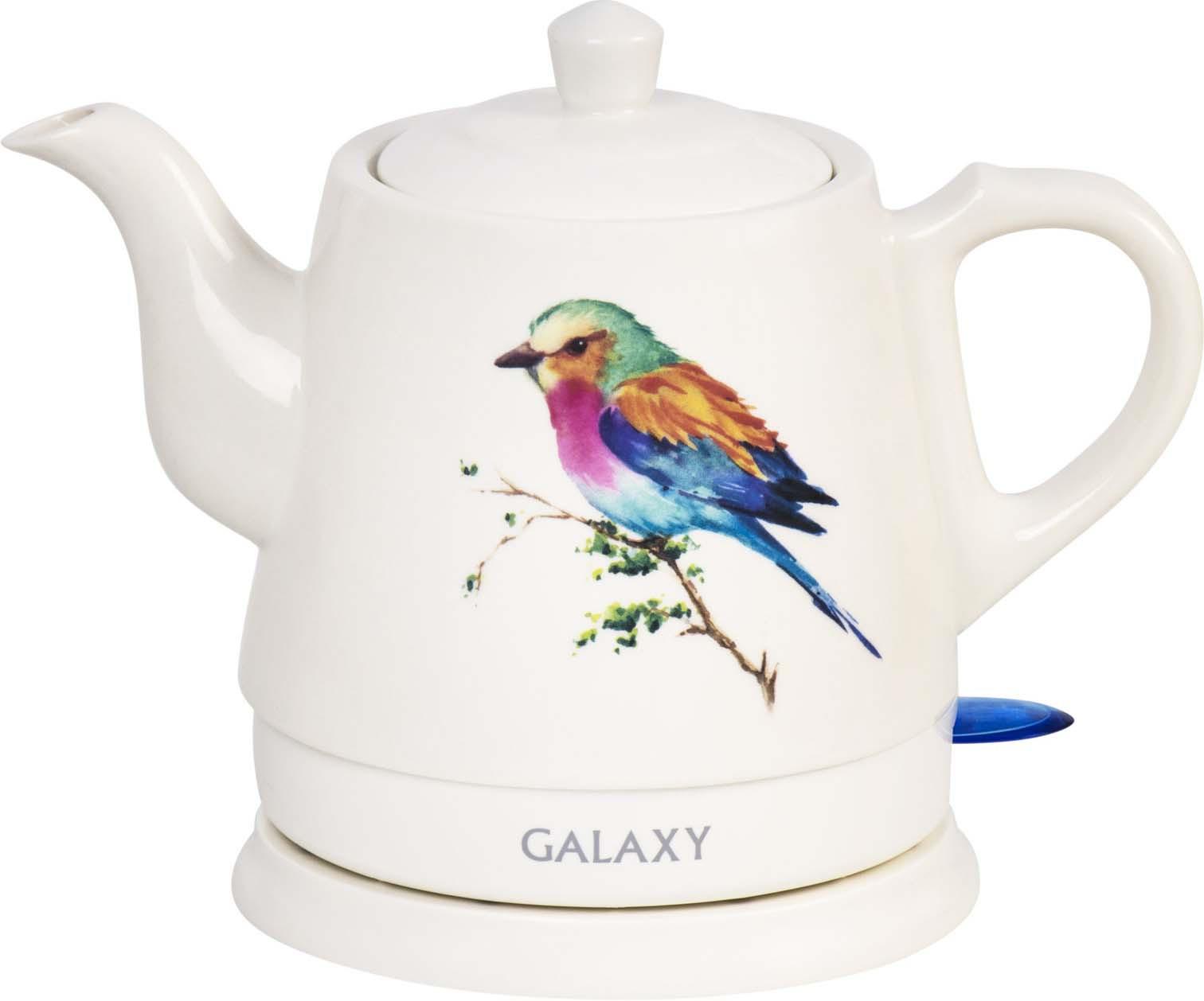 Электрический чайник Galaxy GL 0501, цвет: белый, 1 л