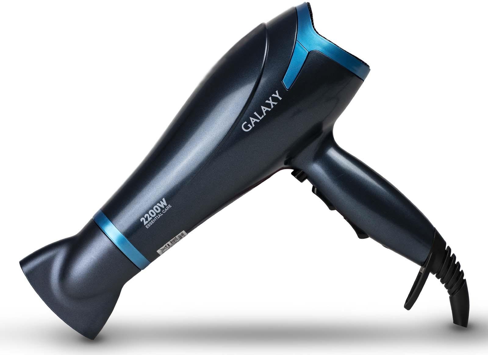 Фен Galaxy GL 4329, цвет: черный, голубой