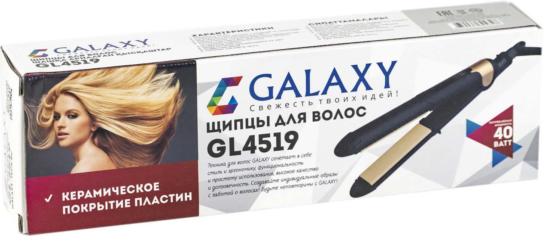 Щипцы для волос Galaxy GL 4519, цвет:  черный, золотистый Galaxy