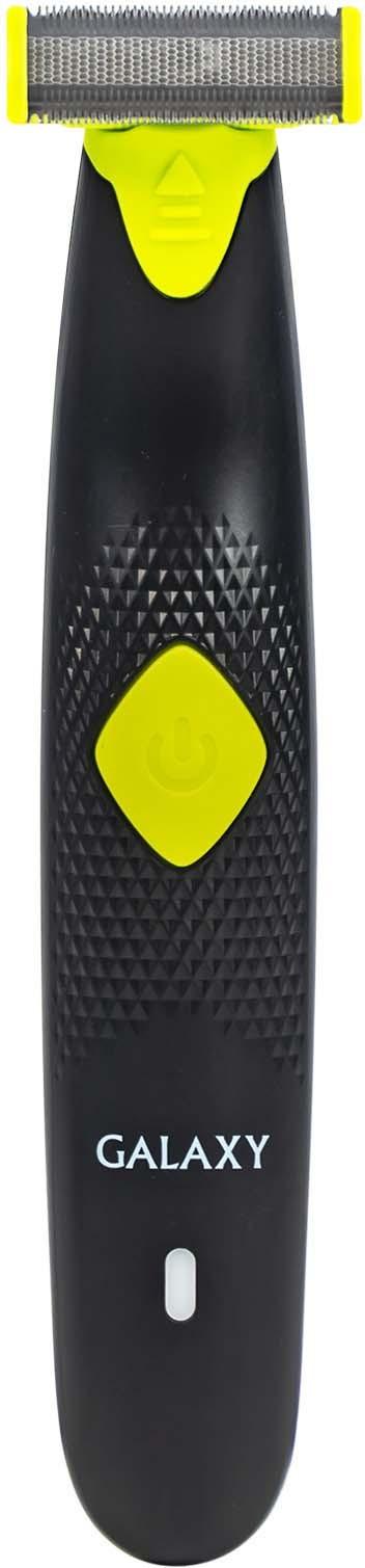 Триммер для бороды и усов Galaxy GL 4220, цвет: черный, зеленый триммер для бороды и усов