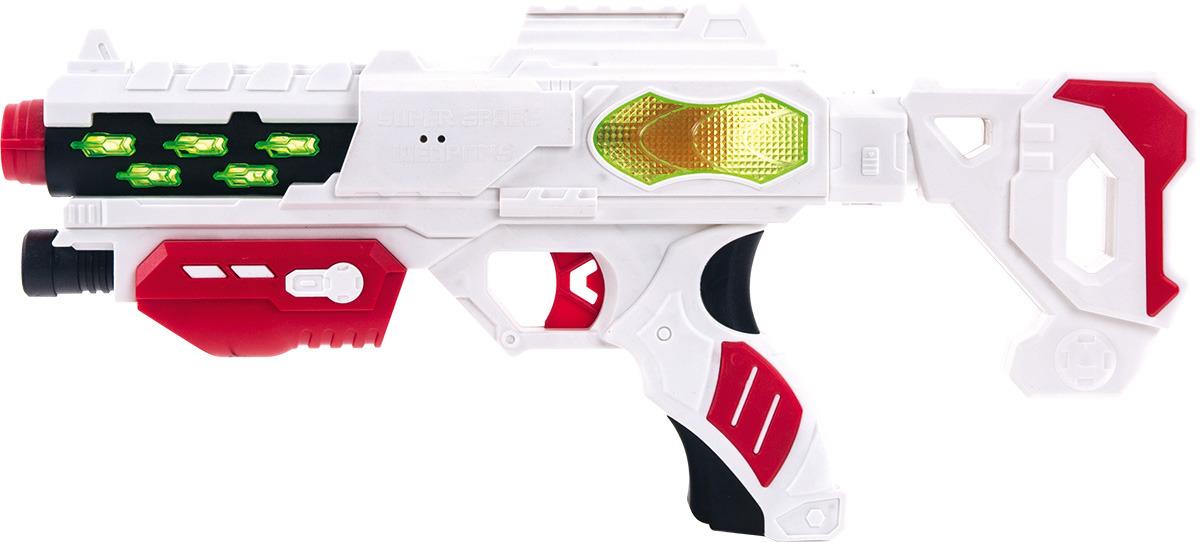 Бластер Fun Red, со звуковыми и световыми эффектами, длина 38 см fun red бластер белый