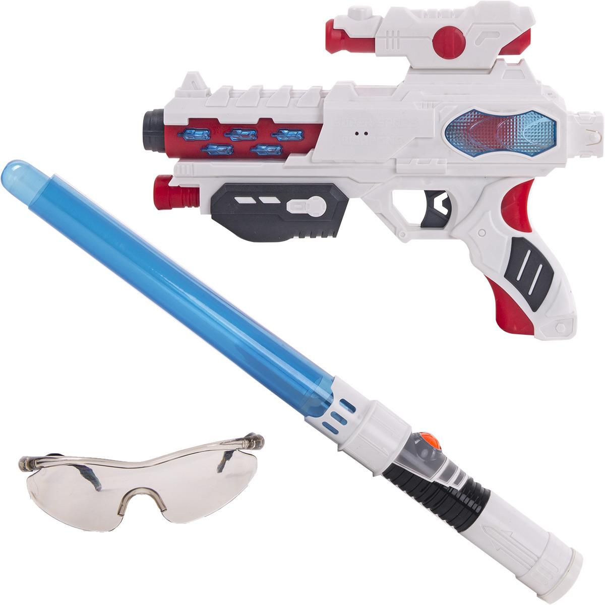 Игровой набор Fun Red: бластер, меч, очки, со звуковыми и световыми эффектами, цвет в ассортименте игровой набор fun red бластер наручники со звуковыми и световыми эффектами