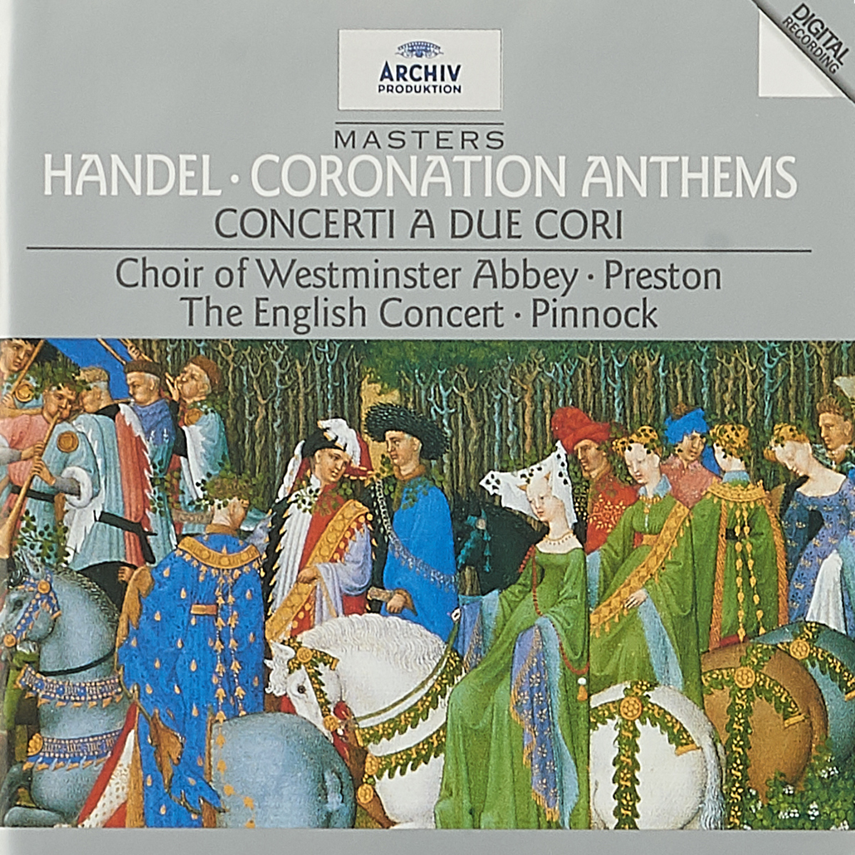 The English Concert Orchestra,Westminster Abbey Choir,Тревор Пиннок,Саймон Престон Trevor Pinnock / Simon Preston. Handel: Coronation Anthems j v roberts postlude in f major