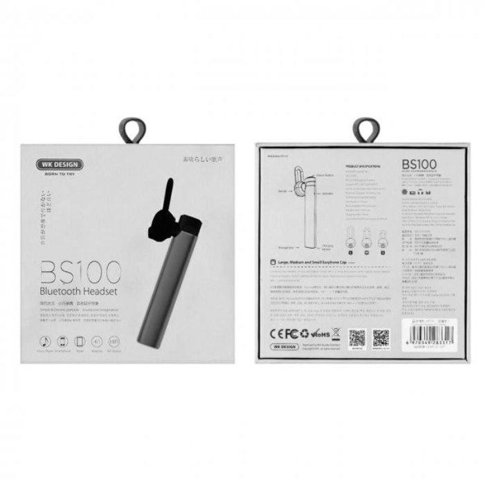 Bluetooth-гарнитура WK BS100, Tarnish