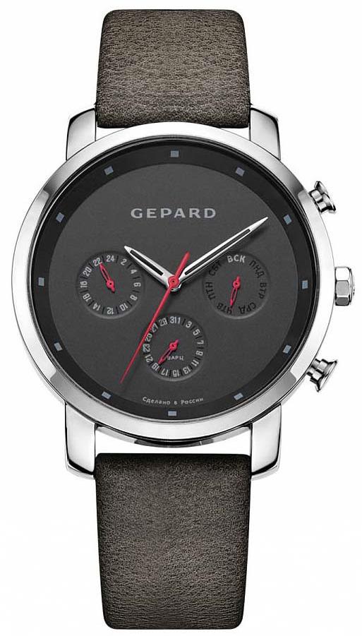 Часы наручные мужские Gepard, цвет: серебристый. 1259B1L2 цена и фото