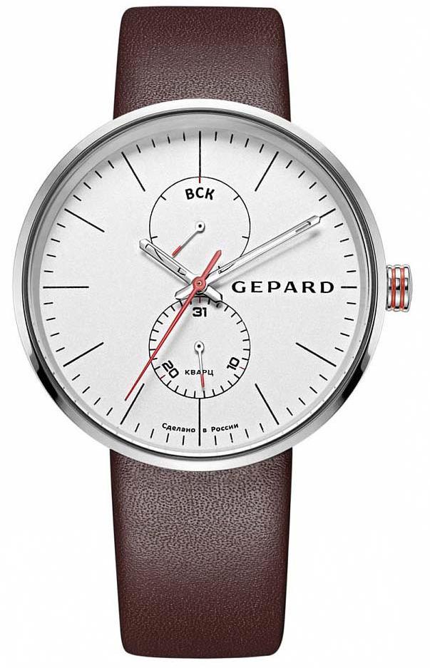 Часы наручные мужские Gepard, цвет: серебристый. 1261B1L1-11 все цены