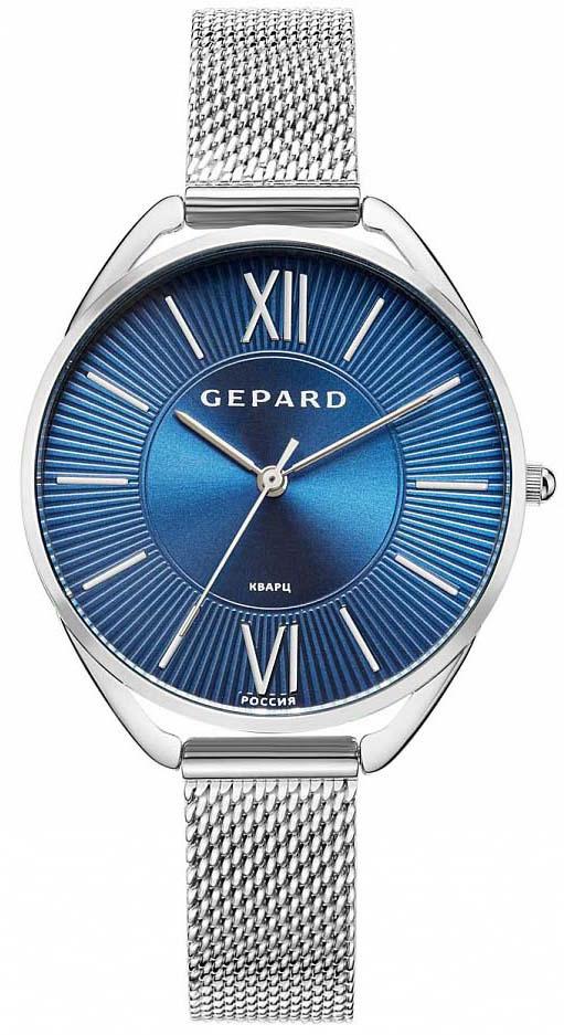 Часы наручные женские Gepard, цвет: серебристый. 1305A1B21305A1B2Женские кварцевые часы на браслете.