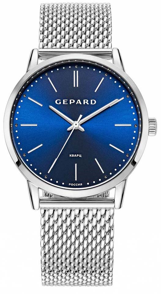 лучшая цена Часы наручные мужские Gepard, цвет: серебристый. 1308A1B2