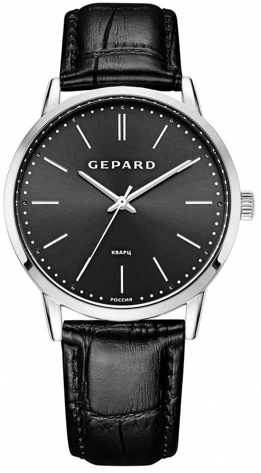 Часы наручные мужские Gepard, цвет: серебристый. 1308A1L1