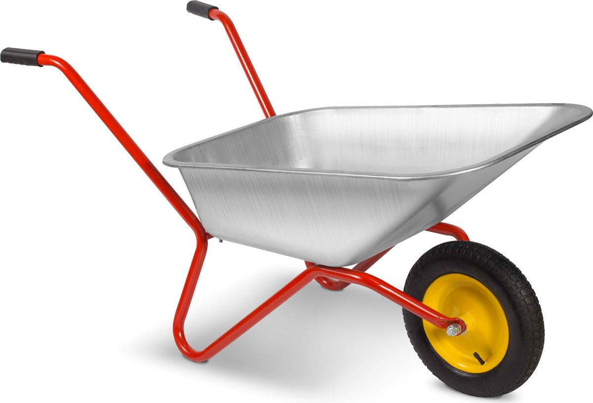 Тачка садовая Корона, оцинкованная, колесо с подшипником, 80 л цена