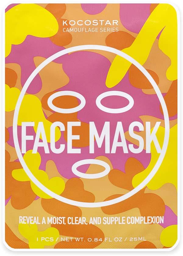 Маска для лица Kocostar Camouflage, с лифтинг эффектом, 25 мл kocostar маска слайс для лица тюльпан 20 мл