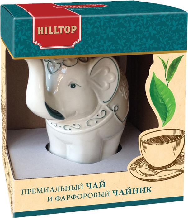 Чай листовой черный Hilltop Подарок Цейлона, в Чай листовойнике Слон Classic топаз, 80 г hilltoр волшебный дед мороз чай черный листовой подарок цейлона 80 г