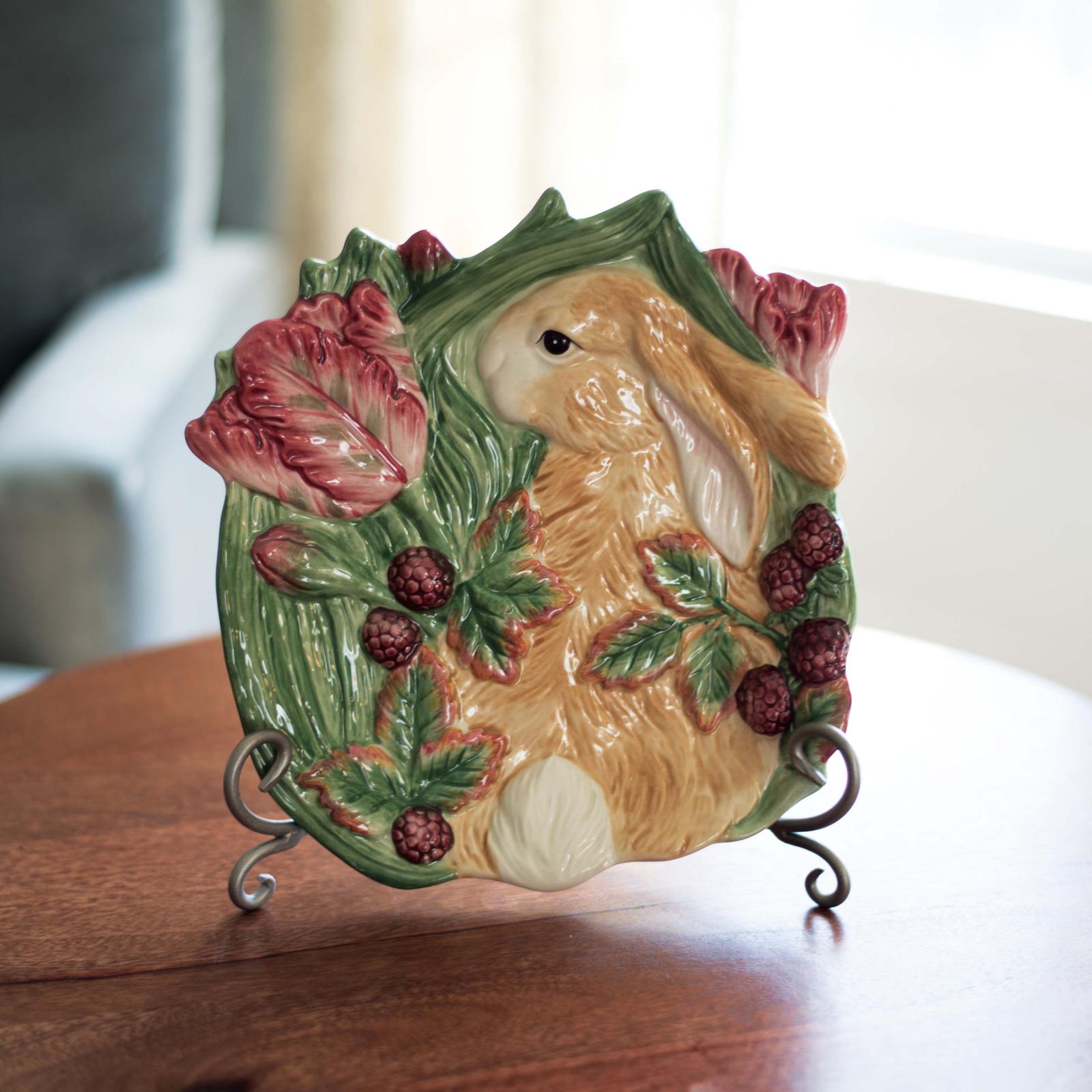 Блюдо Fitz and Floyd Блюдо для пирожных Кролики в ежевике, Керамика