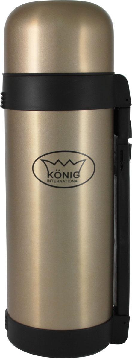 термосы Термос Konig International, для напитков, серебристый, 1,5 л