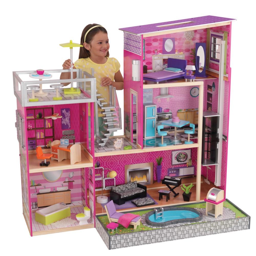 Дом для кукол KidKraft Глянец аксессуары для кукол kidkraft кукольный стульчик для кормления